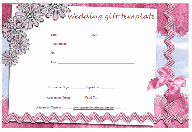 Wedding Gift Certificate Template Free Download Luxury Gift Certificate Templates