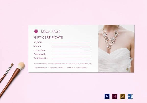 Wedding Gift Certificate Template Free Download New Best Gift Certificate Templates 38 Free Word Pdf