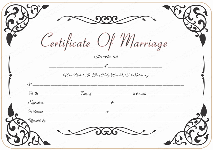 Wedding Gift Certificate Template Free Download New Editable Certificate Template