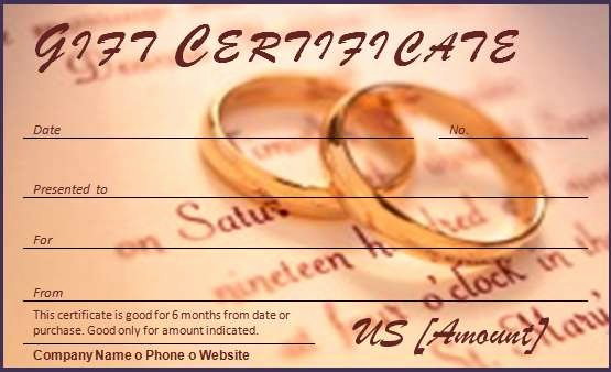 Wedding Gift Certificate Template Free Download Unique 40 Gift Certificate Templates for Any Occasion