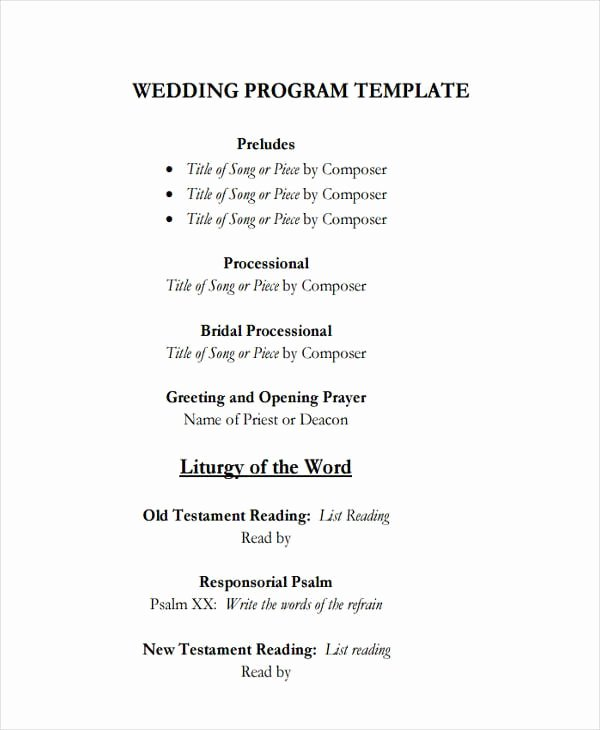 Wedding Program Template Google Docs Beautiful Free 25 Program Examples In Pdf Ai Pages