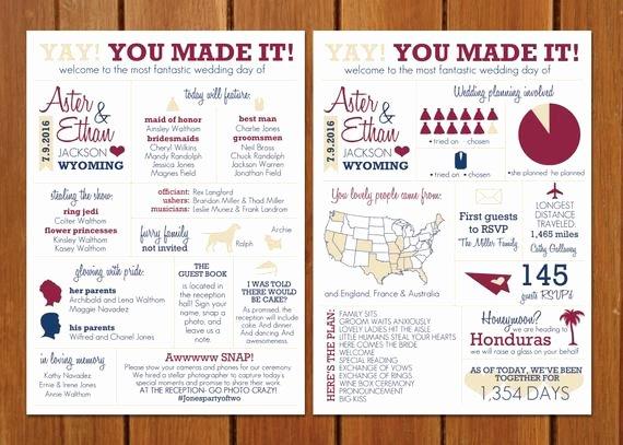 Wedding Program Template Google Docs Inspirational Items Similar to Infographic Wedding Program On Etsy
