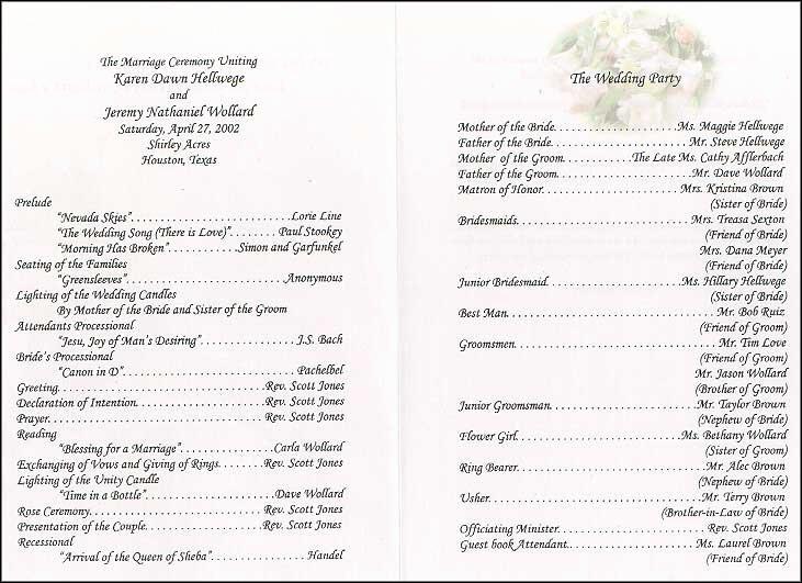 Wedding Program Template Google Docs Inspirational Wedding Collection nowadays Wedding Program Wording
