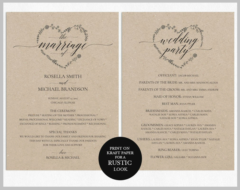 Wedding Program Template Google Docs New 14 Wedding Program Templates Psd Ai