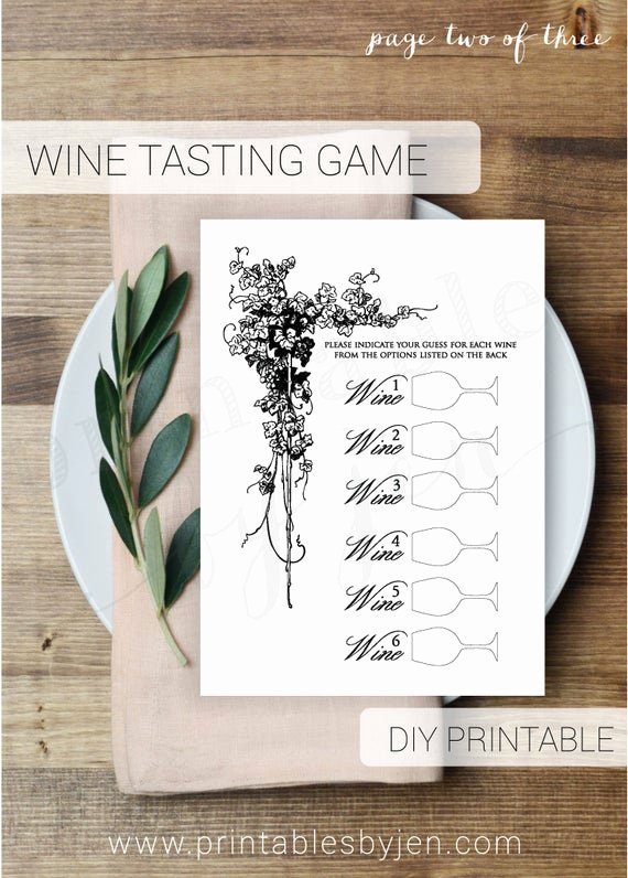 Wine Tasting Games Printable Unique Wine Tasting Game Editable Diy Printable Bridal Shower