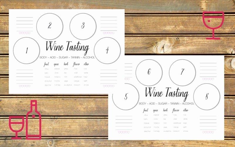 Wine Tasting Games Printable Unique Wine Tasting Scorecard Printable