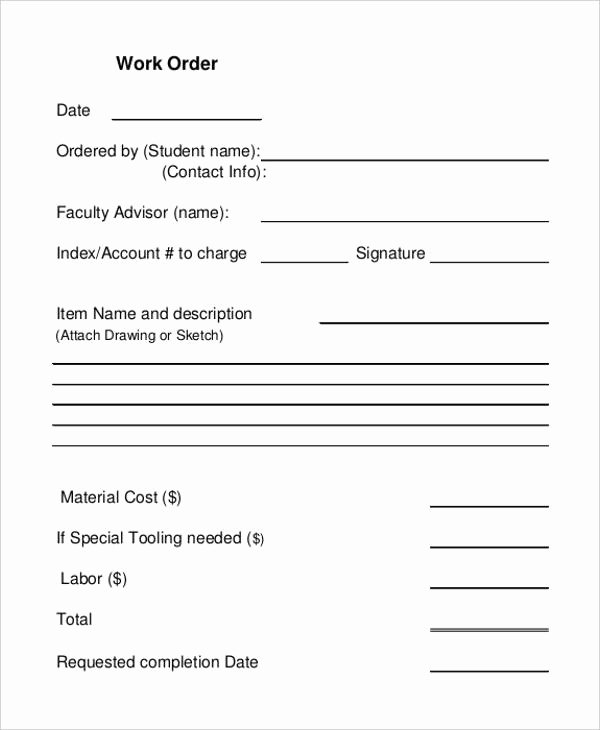 Work Completed form Template Best Of 6 Work Receipt Templates Free Sample Example format