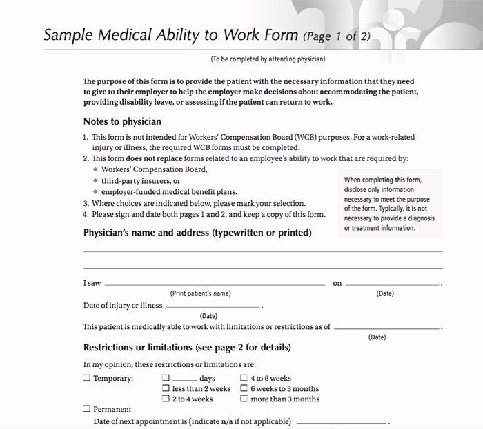 Work Restrictions Letter Fresh 25 Free Printable Doctor Notes Templates for Work Updated