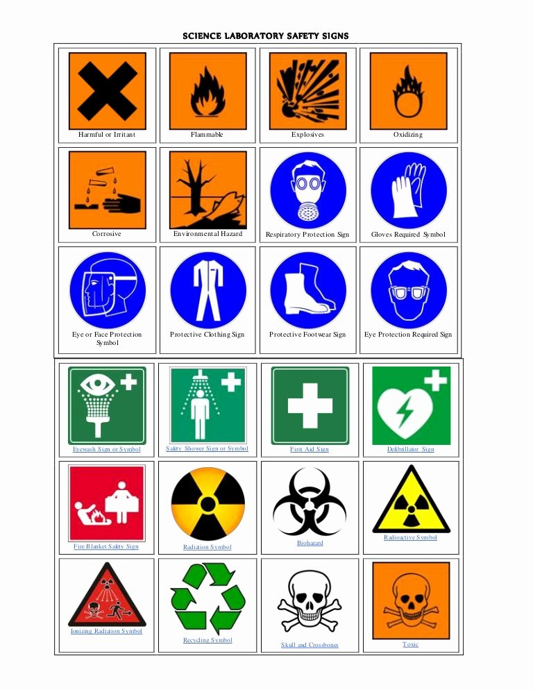 Worksheet Lab Safety Symbols Elegant Science Laboratory Safety Signs