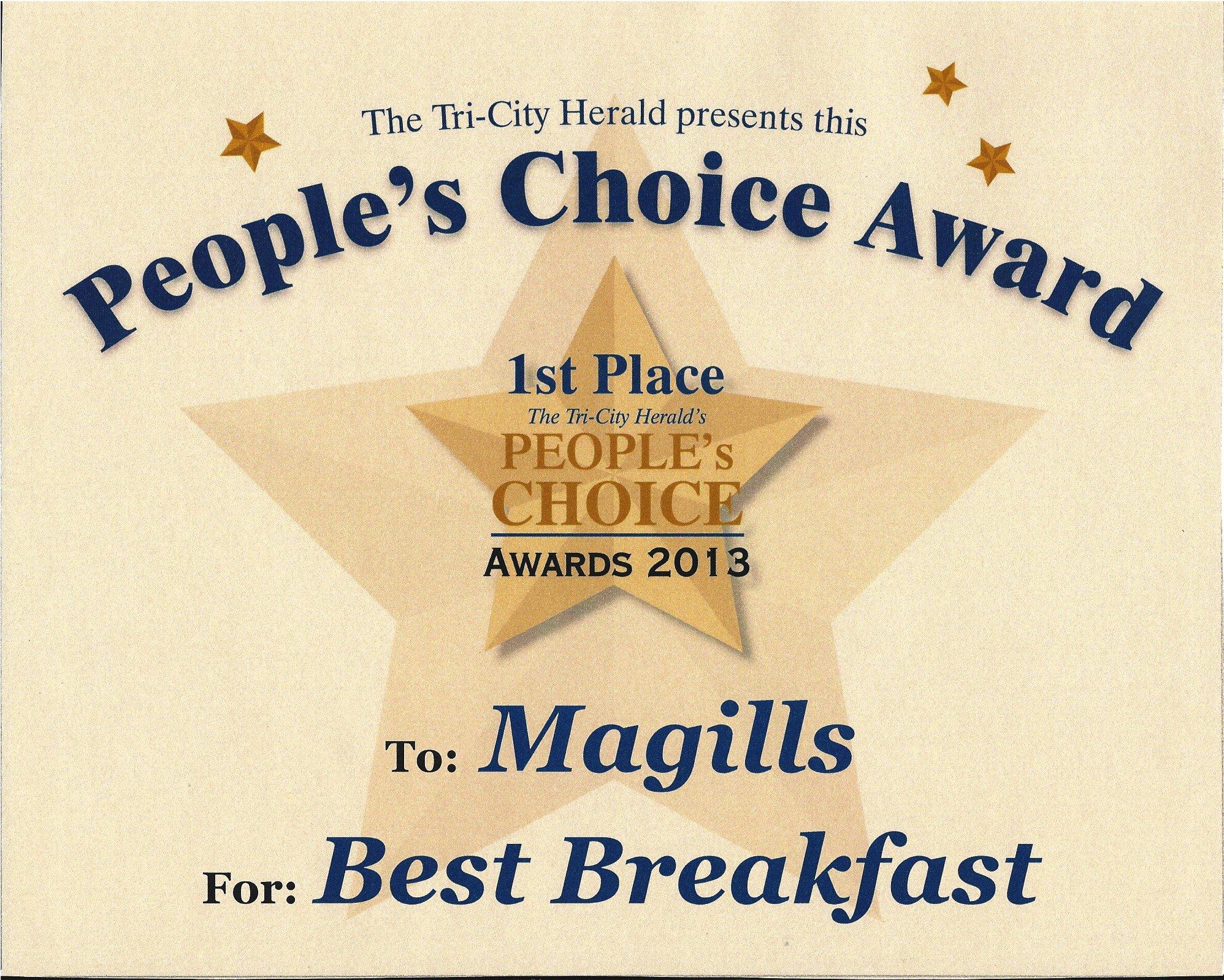 World's Best Boyfriend Award Luxury Magills Restaurant & Catering