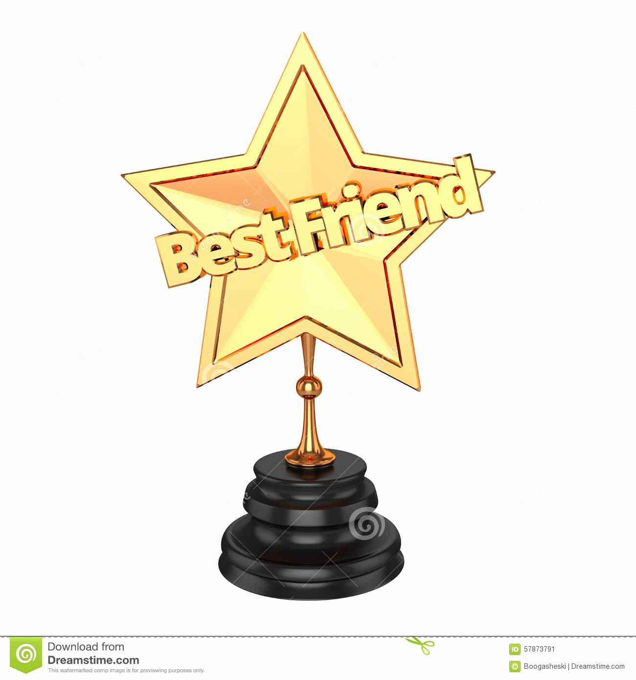 World's Best Friend Award Elegant Best Friend Award Trophy Stock Illustration