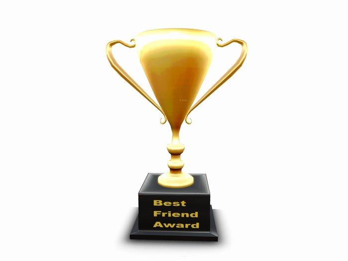 World's Best Friend Award Inspirational Second Life Marketplace Best Friend Award