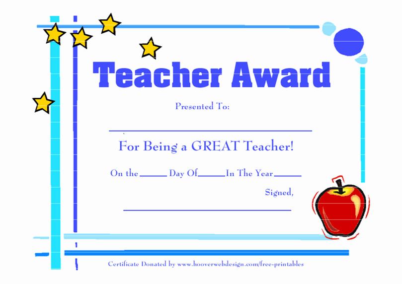 World's Best Teacher Certificate Best Of Best Certificate Template