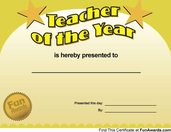 World's Best Teacher Certificate Best Of Funny Teacher Awards – Printable Award Certificates for