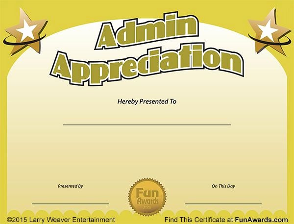 World's Best Teacher Certificate Inspirational Funny Award Ideas Administrative assistant Day Free