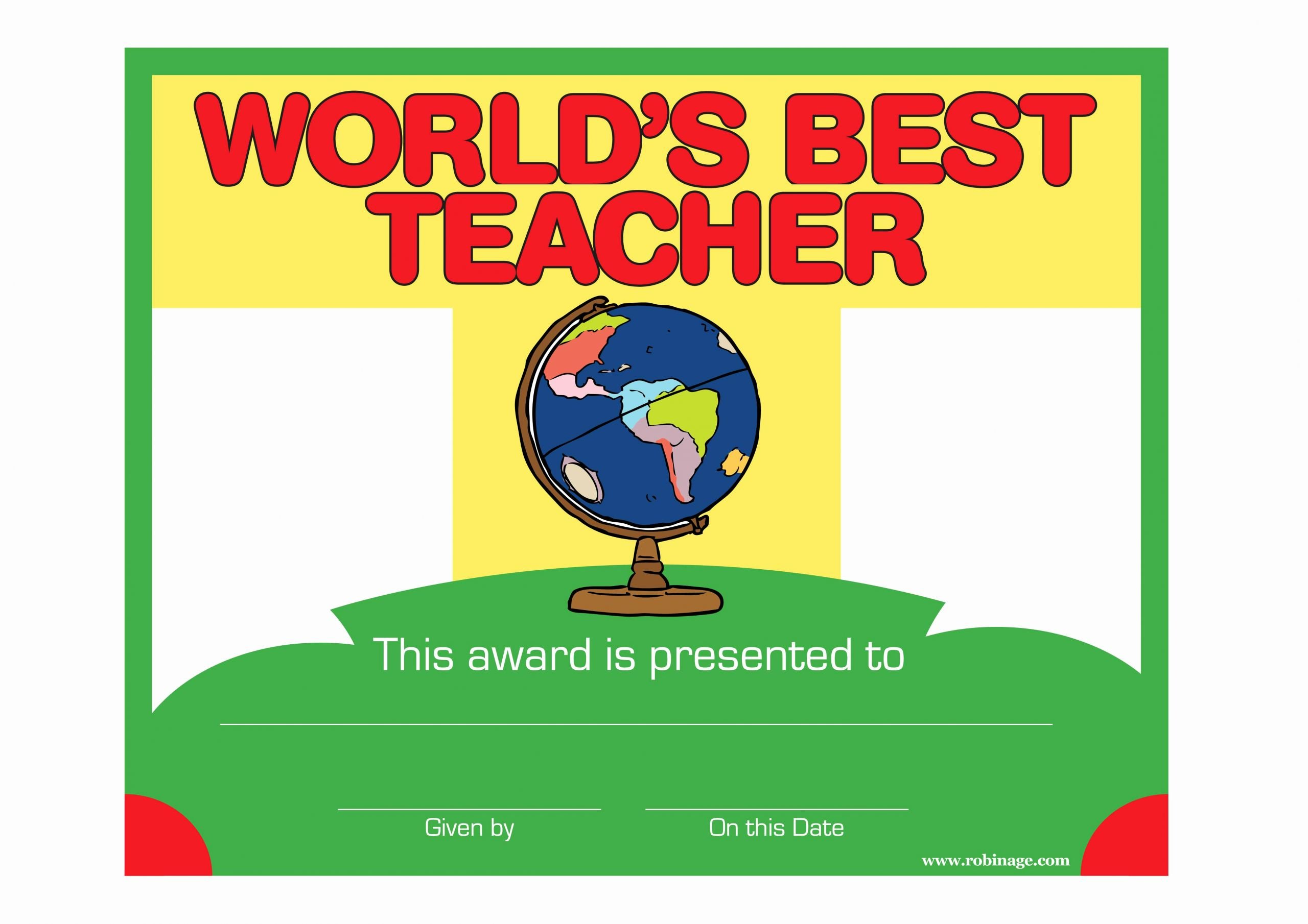 World's Best Teacher Certificate Unique Robinage Download Cool Posters Puzzles Games Cards