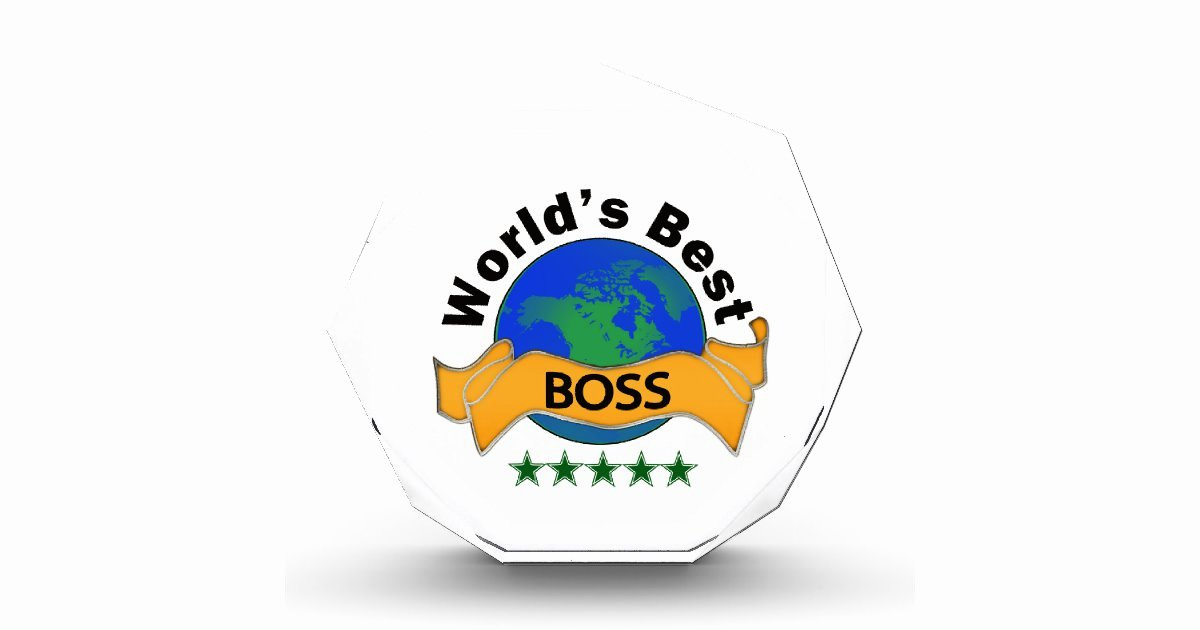 Worlds Best Boss Certificate Awesome World S Best Boss Acrylic Award
