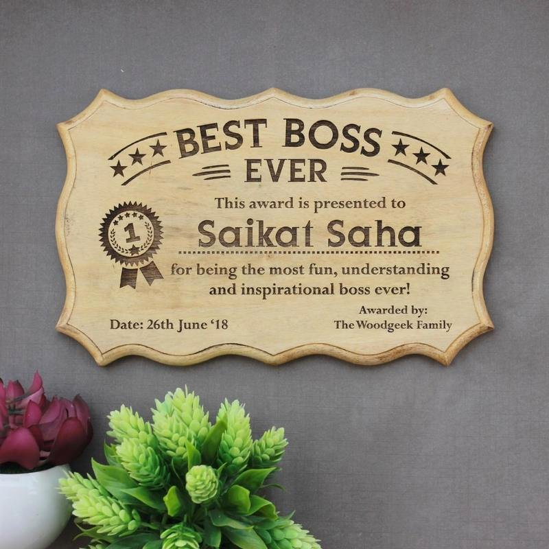 Worlds Best Boss Certificate Elegant Personalized Best Boss Ever Award Certificate