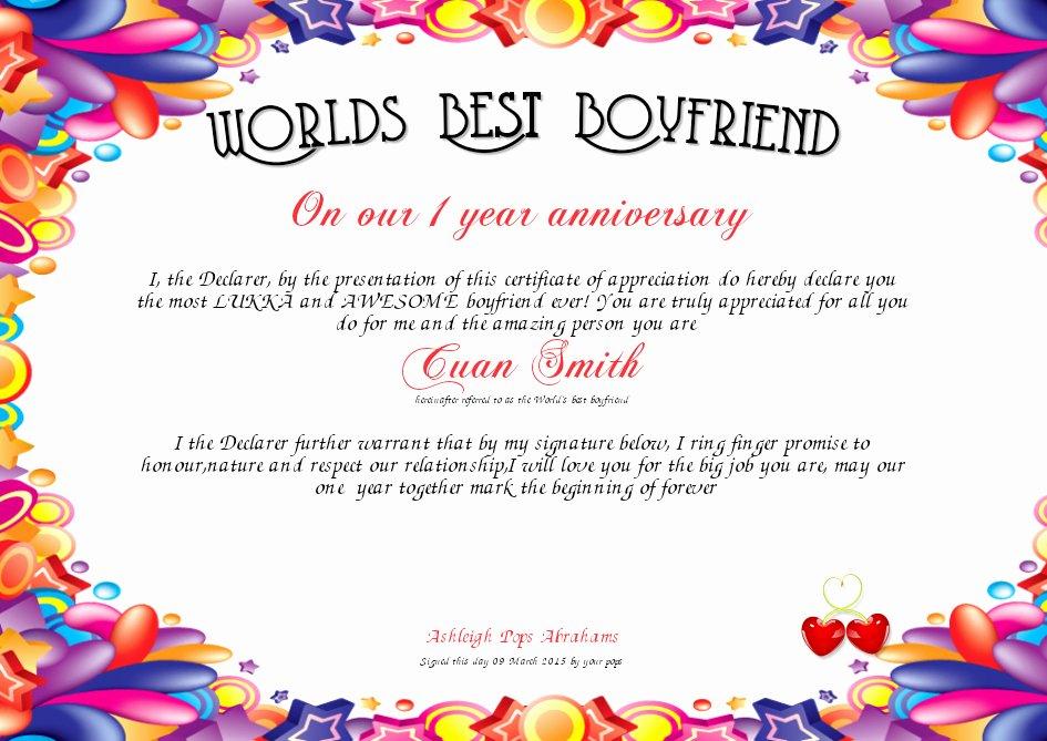 Worlds Best Boyfriend Award Lovely 30 Worlds Best Boyfriend Award