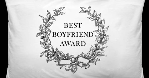 Worlds Best Boyfriend Award Unique Best Boyfriend Award Pillowcase