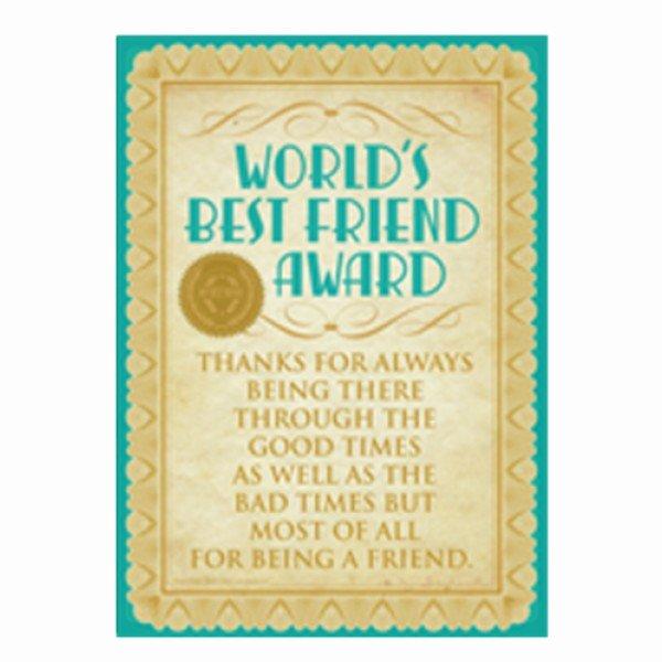 Worlds Best Friend Award Elegant Worlds Best Friend Metal Sign