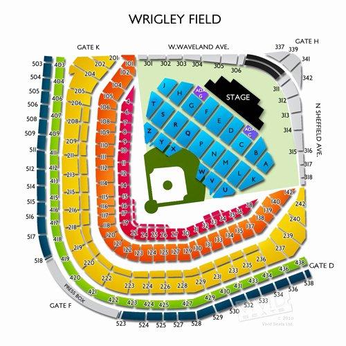 wrigley field concert seating chart billy joel