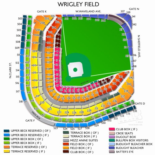 Wrigley Field Concert Seating Chart with Seat Numbers Luxury Wrigley Field Tickets Wrigley Field Seating Chart