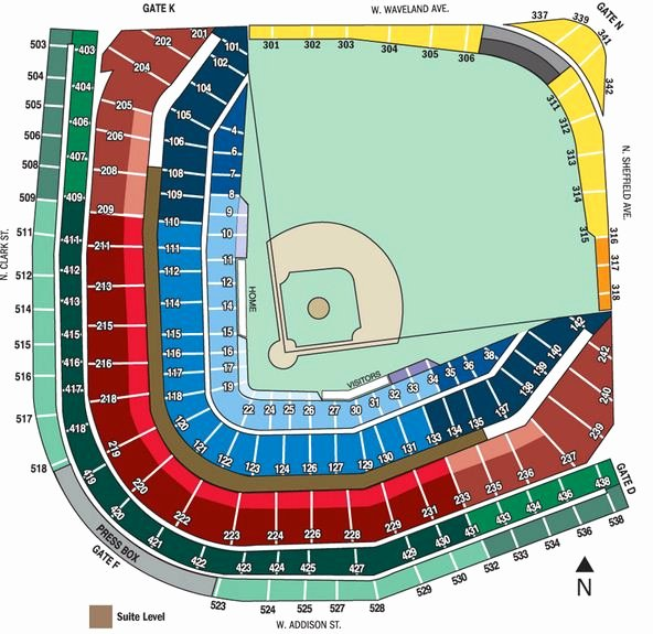 Wrigley Field Seat Map with Seat Numbers Unique Baseblog Wrigley Field 101 Streets Eats and Seats