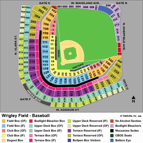 Wrigley Field Seating Chart with Rows and Seat Numbers Beautiful Fresh Wrigley Field Seating Chart with Seat Numbers