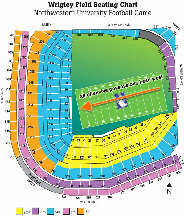 Wrigley Field Seating Chart with Rows and Seat Numbers Best Of Updated Wrigley Field Diagram and Seating Chart