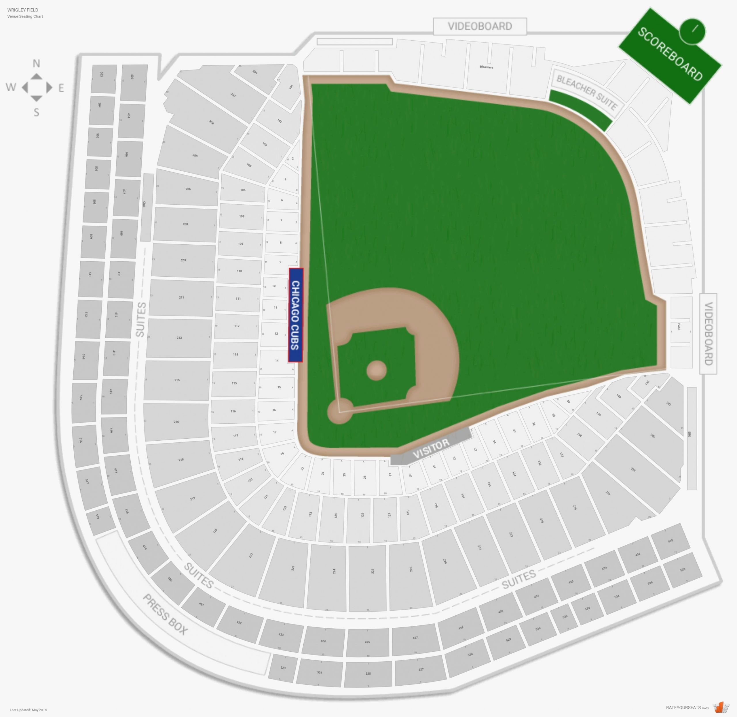 Wrigley Field Seating Chart with Rows and Seat Numbers Inspirational Five Things that You Never Expect Lambeau Field Seating