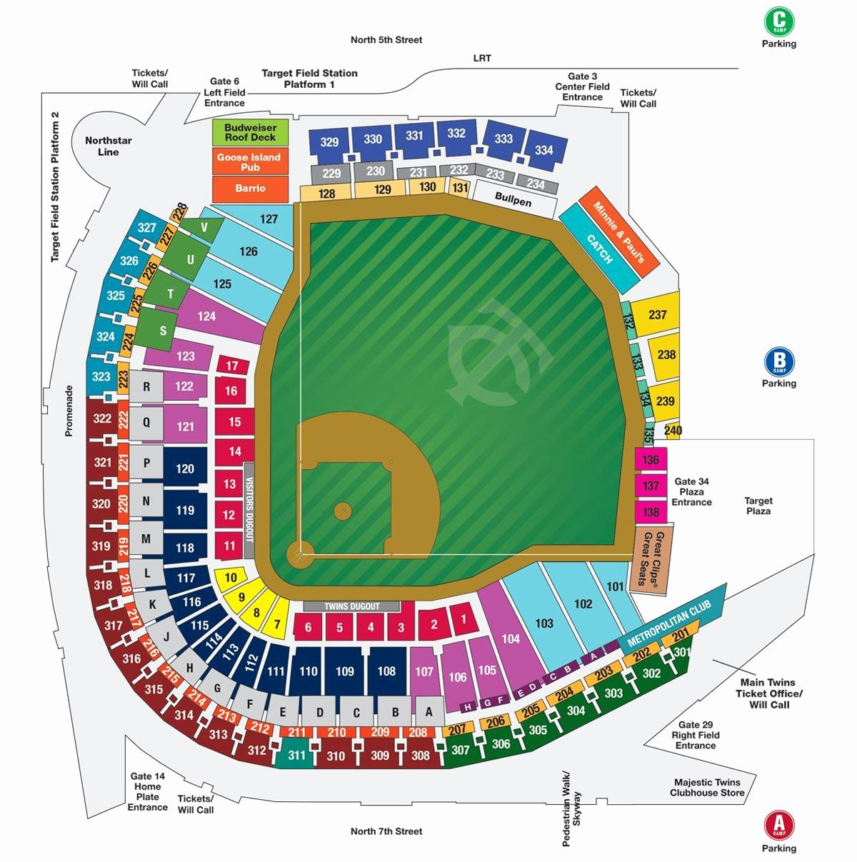 Wrigley Field Seating Chart with Rows and Seat Numbers Lovely Wrigley Field Map Wrigley Field Seating Map with Seat