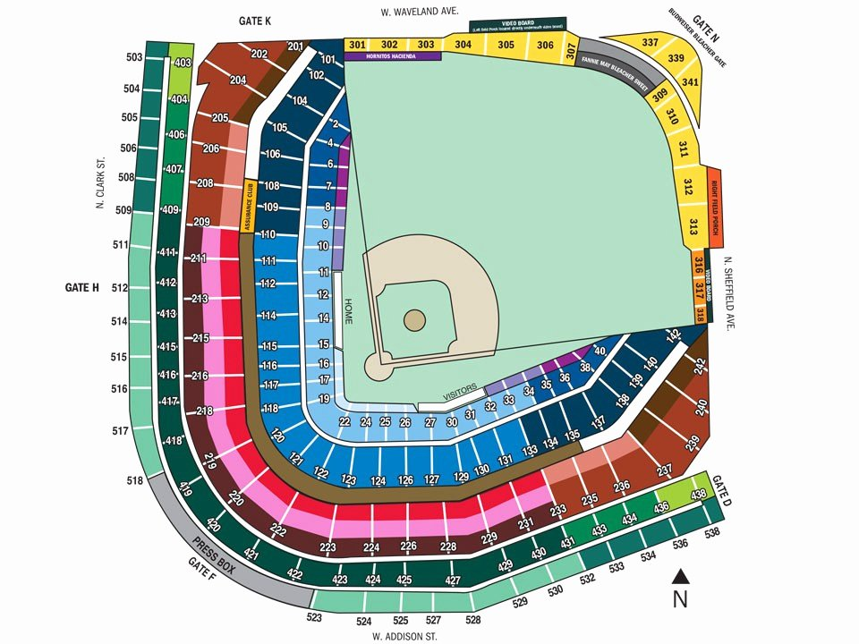 Wrigley Field Seating Chart with Rows and Seat Numbers Unique Fresh Wrigley Field Seating Chart with Seat Numbers