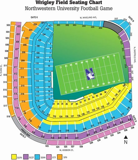 Wrigley Seating Chart Seat Numbers Beautiful Wrigley Field Maplets