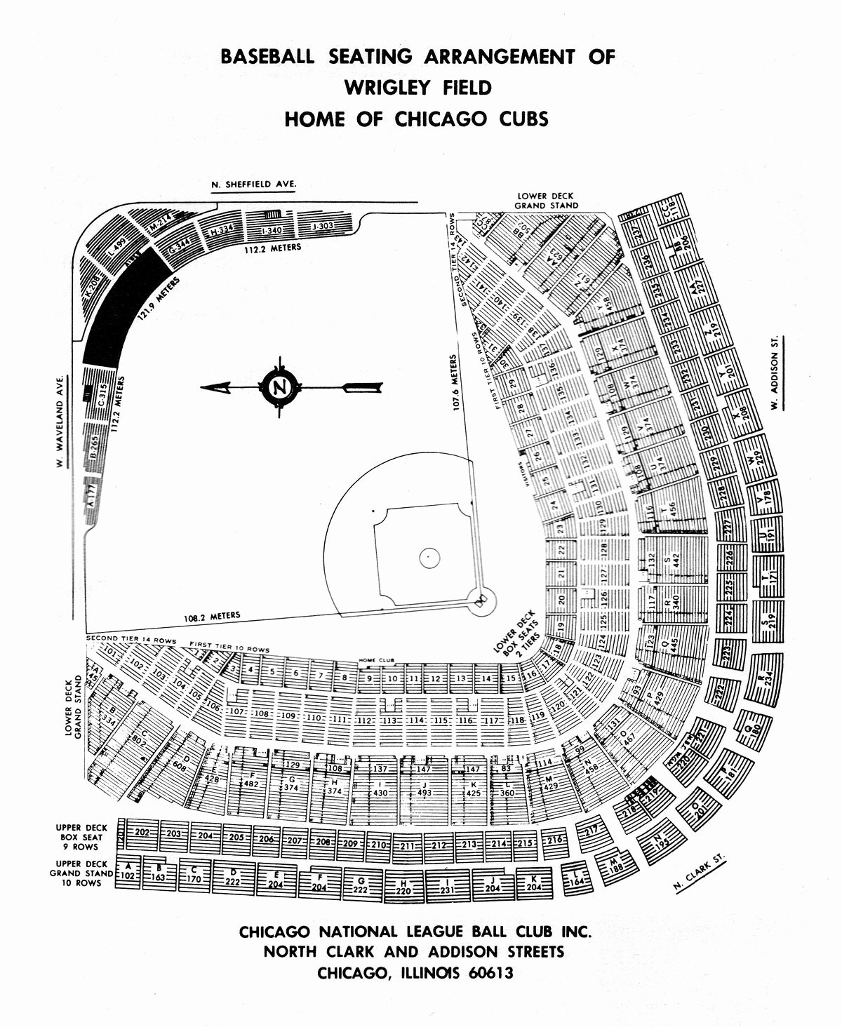 Wrigley Seating Chart Seat Numbers Elegant the Cubs are Re Numbering Every Seat In Wrigley Field