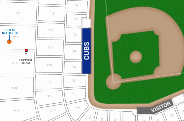 Wrigley Seating Chart with Rows Beautiful Chicago Cubs Wrigley Field Seating Chart & Interactive Map