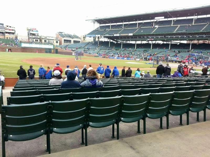 Wrigley Seating Chart with Rows Elegant Wrigley Field Section 108 Row 1 Seat 12 Chicago Cubs