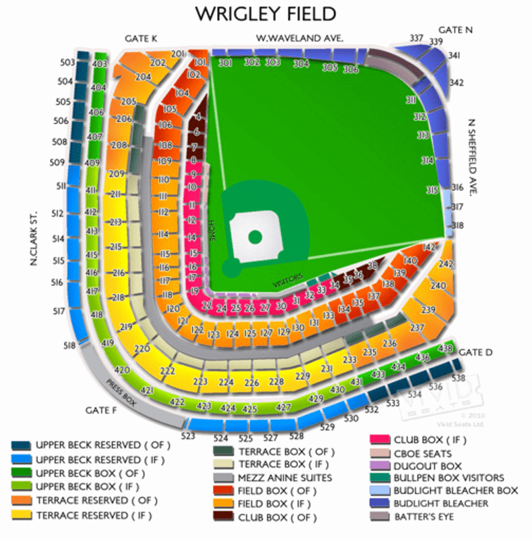 Wrigley Seating Chart with Rows Inspirational Wrigley Field Parking