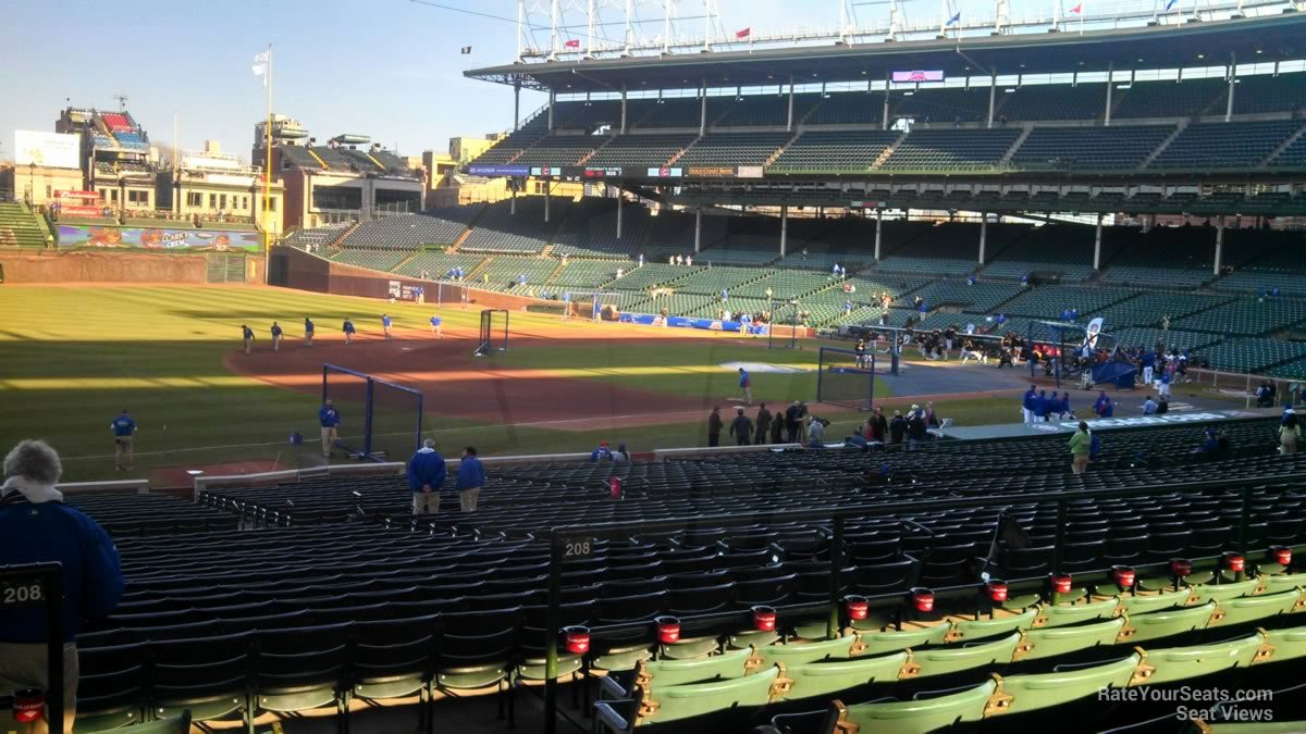 Wrigley Seating Chart with Rows Lovely where is Terrace Box Outfield Aisle 208 Row 6 Seat 8 at