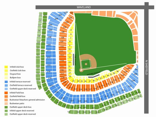 Wrigley Seating Chart with Rows New Wrigley Field Seating Chart & events In Chicago Il