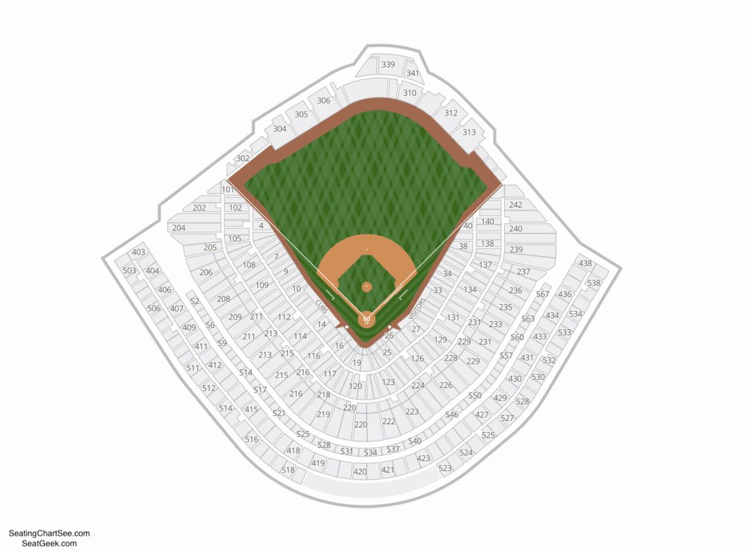 Wrigley Seating Chart with Seat Numbers New Wrigley Field Seating Chart