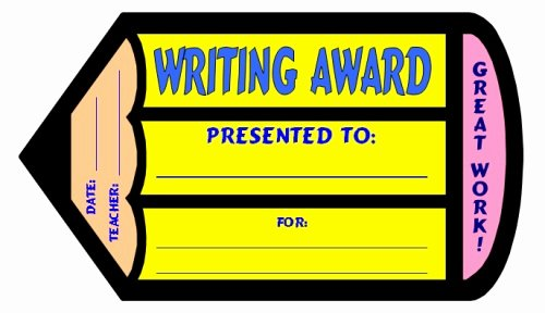 Writing Award Certificate Template Awesome English Award Certificates