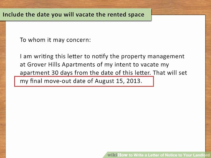 Written Notice Of Move Out Luxury How to Write A Letter Of Notice to Your Landlord 14 Steps