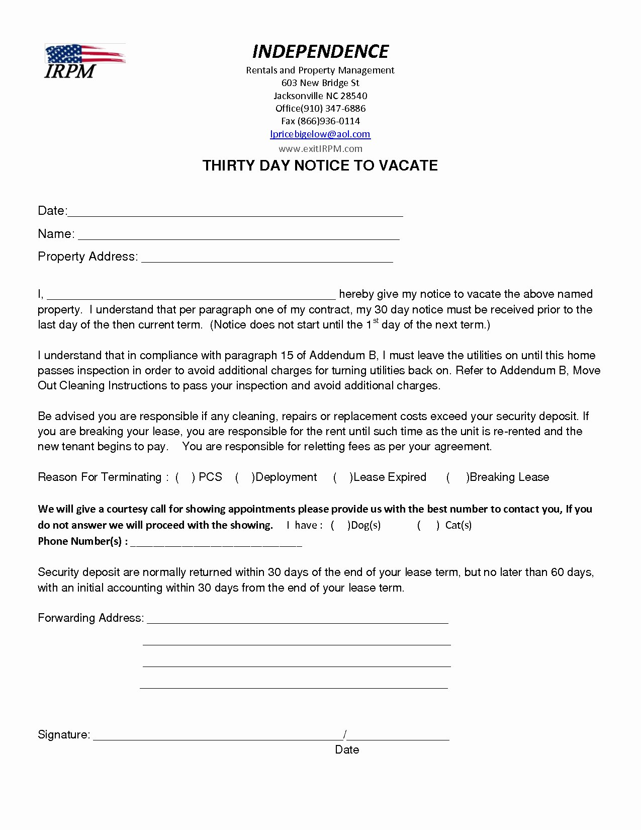 Written Notice to Move Out Awesome Notice to Vacate Apartment Letter Template Collection