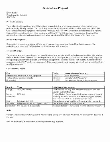 Written Proposal Examples Unique 32 Sample Proposal Templates In Microsoft Word