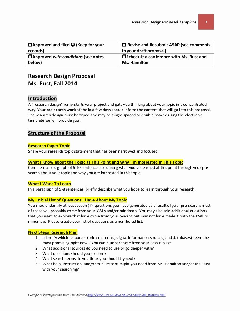 Written Proposal Examples Unique Research Design Proposal Template October 22 2014 Final
