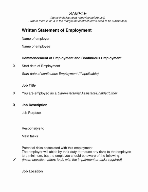 Written Statement Example Best Of Free 10 Written Statement Samples & Templates In Pdf
