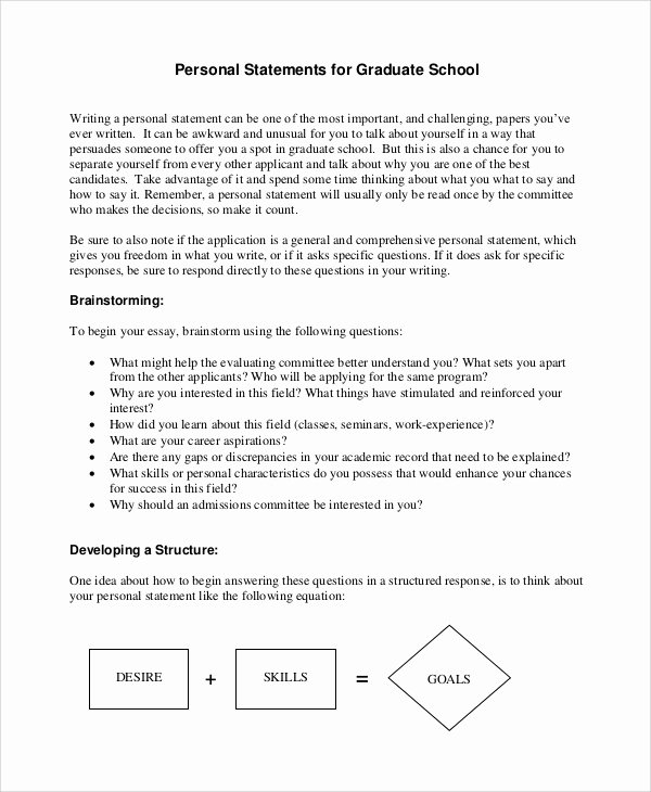 Written Statement Example Elegant Writing Medical School Personal Statement Examples