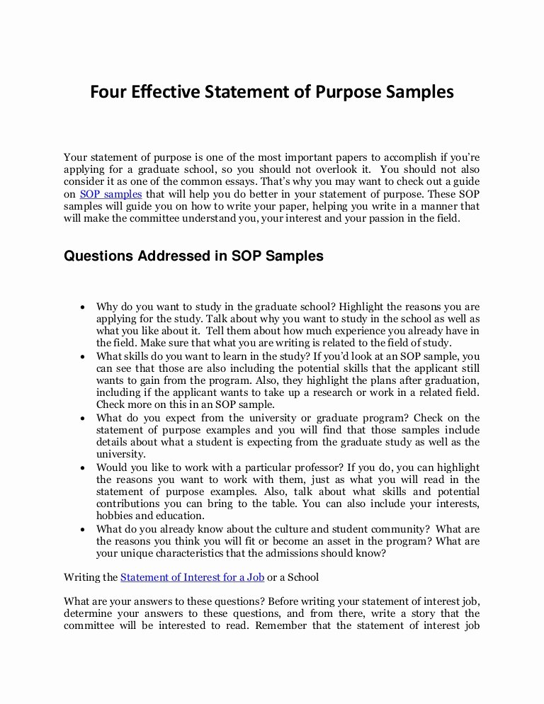 Written Statement format Awesome How to Write An Effective Personal Statement with sop Samples