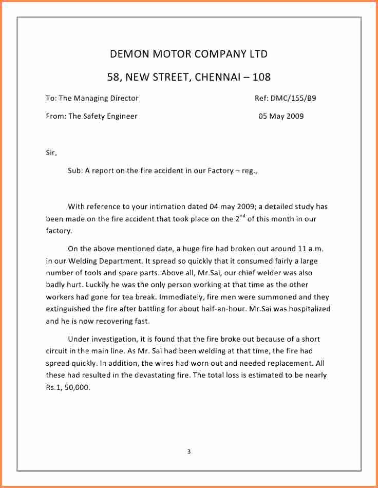 Written Statement format Fresh 6 Incident Report Letter Examples Pdf